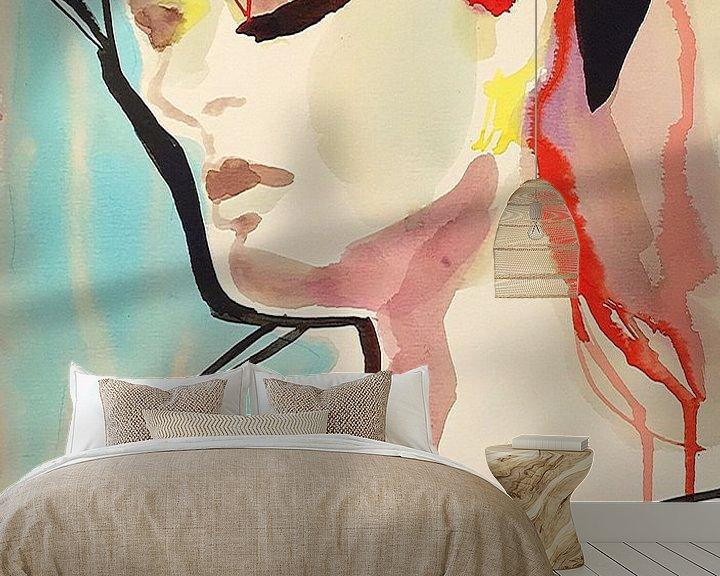 Beispiel fototapete: Türkisfarbene Träume von Helia Tayebi Art