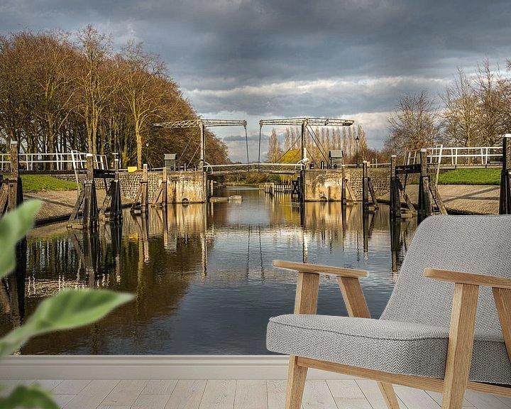 Sfeerimpressie behang: De Willemsvaart is een vaart in de Nederlandse stad Zwolle die loopt van de binnenstad van Zwolle na van Jaap van den Berg