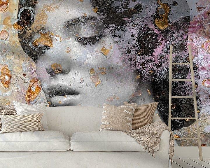 Sfeerimpressie behang: Goud van Maaike Wycisk