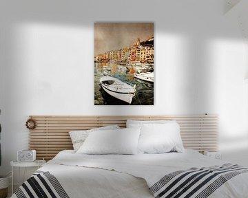 Portovenere Italië landschap schilderij #italy van JBJart Justyna Jaszke