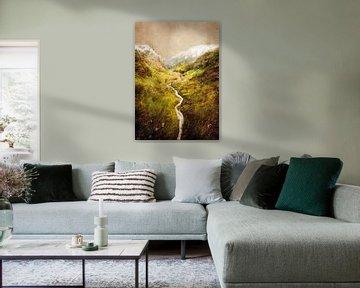 Aosta Italië landschap schilderij #italy van JBJart Justyna Jaszke