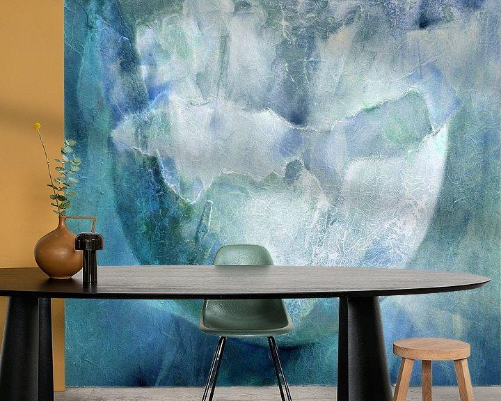 Impression: La coquille d'œuf - structures en turquoise et bleu sur Annette Schmucker