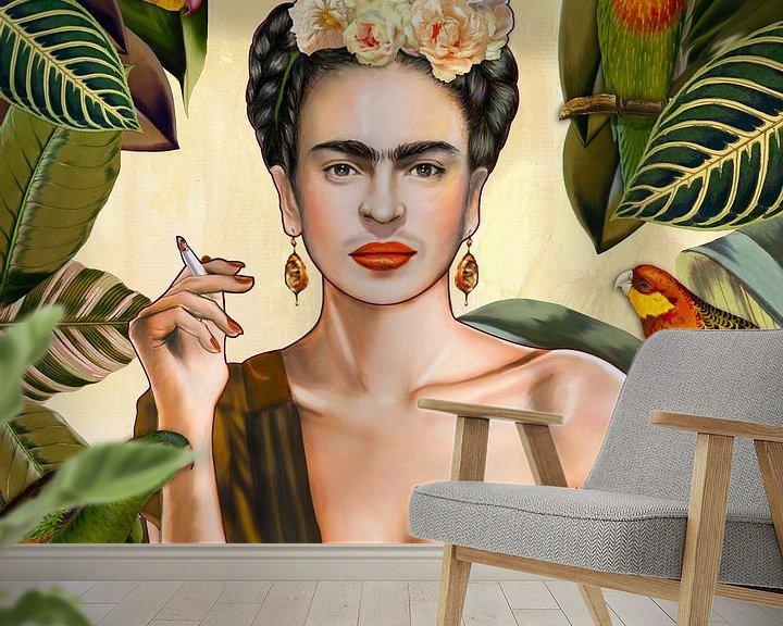 Beispiel fototapete: Frida con Amigos Mexican von Nettsch .