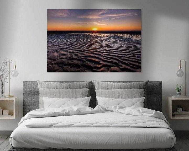 Sfeerimpressie: Zonsondergang op Schiermonnikoog van Jacques Jullens
