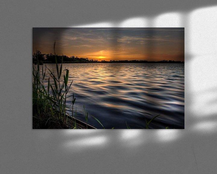 Sfeerimpressie: Zonsondergang aan het Leekstermeer van Jacques Jullens
