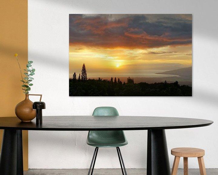 Beispiel: Hawaii - Sonnenuntergang auf der Insel Maui von Ralf Lehmann