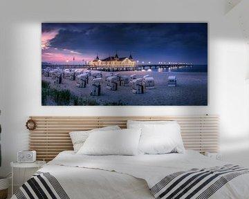 Strand und Seebrücke von Ahlbeck am Abend. von Voss Fine Art Fotografie