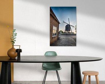 Straße und Mühle in Heusden