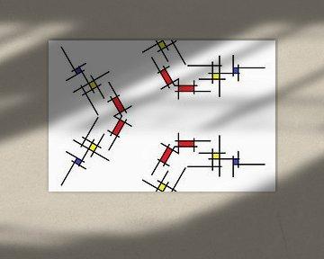 Mondrianoid 4 von Henk-Jan van Tuyl