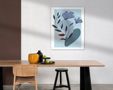 Line-art Blue van Rudy & Gisela Schlechter
