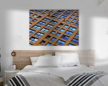 Nach oben schauen (Gebäude in Rotterdam) von Caroline Lichthart