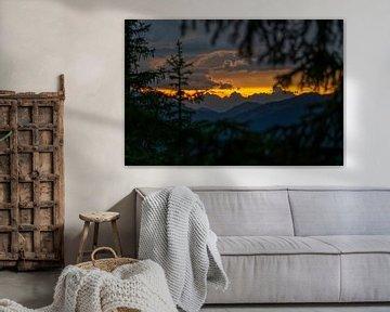Sonnenuntergang mit Blick auf den Wilden Kaiser von chamois huntress