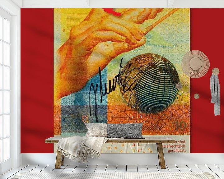 Sfeerimpressie behang: Bankbiljet Zwitserland JM0205 van Johannes Murat