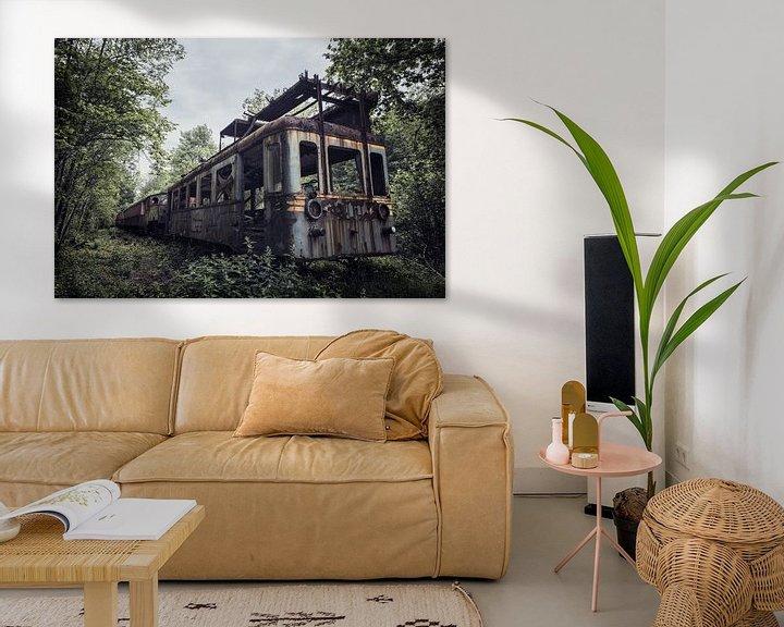 Beispiel: Verlassener Urbex-Zug mitten im Wald von Steven Dijkshoorn
