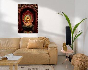 Œuvre d'art d'un bouddha chinois dans un temple chinois à Singapour sur Jeroen Langeveld, MrLangeveldPhoto