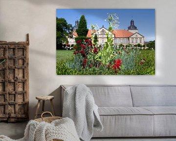 Blumenbeet vor Schloss Hundisburg (Sachsen-Anhalt) 2 von t.ART