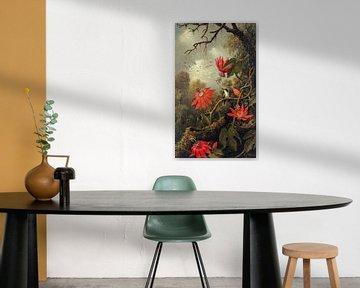 Hummingbird and Passionflowers van Rudy en Gisela Schlechter
