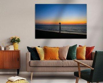 Zonsondergang in cadzand, Zeeland van Julius Koster