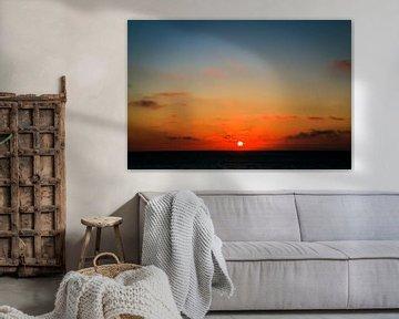 Zonsondergang in cadzand van Julius Koster