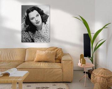Actress Hedy Lamarr (b/w photo) van Bridgeman Images