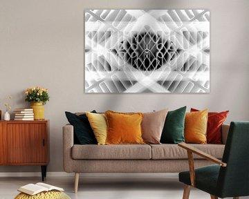 Abstrakte Linien und Formen in Schwarz und Weiß von Lisette Rijkers