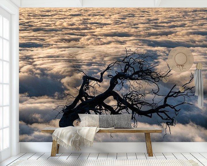 Sfeerimpressie behang: schaduwboom van Stefan Bauwens Photography