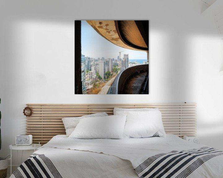 Sfeerimpressie: Uitzicht op Beiroet vanuit Holiday Inn Hotel. van Roman Robroek