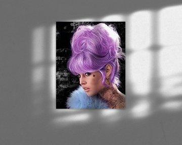 Brigitte Bardot Lila von Rene Ladenius Digital Art