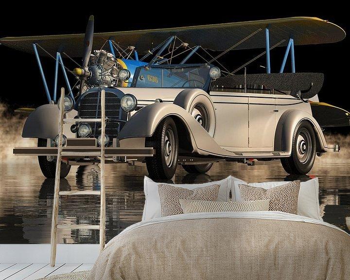 Sfeerimpressie behang: Mercedes 770 K Limousine uit 1938 Elegance On Top van Jan Keteleer