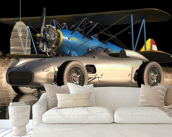 Beispiel fototapete: Mercedes W196 - ein ikonischer Sportwagen von 1954 von Jan Keteleer
