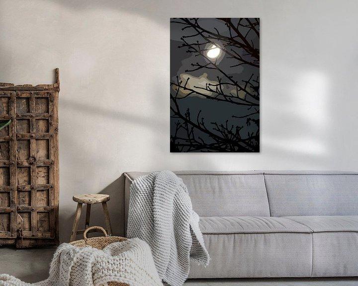 Sfeerimpressie: Maanlicht Nacht van Leopold Brix
