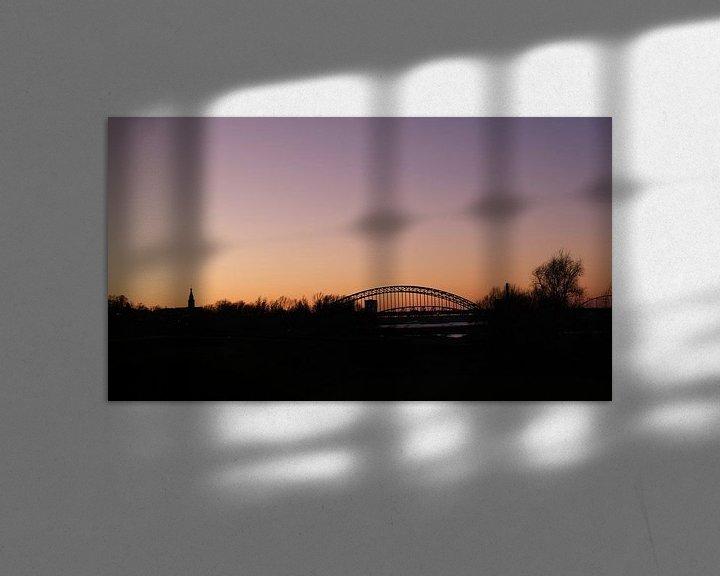 Sfeerimpressie: Skyline Nijmegen vanuit Ooijpolder, Nederland van themovingcloudsphotography