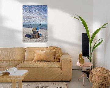 Strand en pier in de Oostzeebadplaats Kellenhusen van Peter Eckert