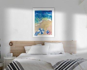 Träumen vom Sommerurlaub am Strand