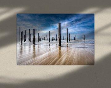 seascape dutch coast van Maurice Hoogeboom