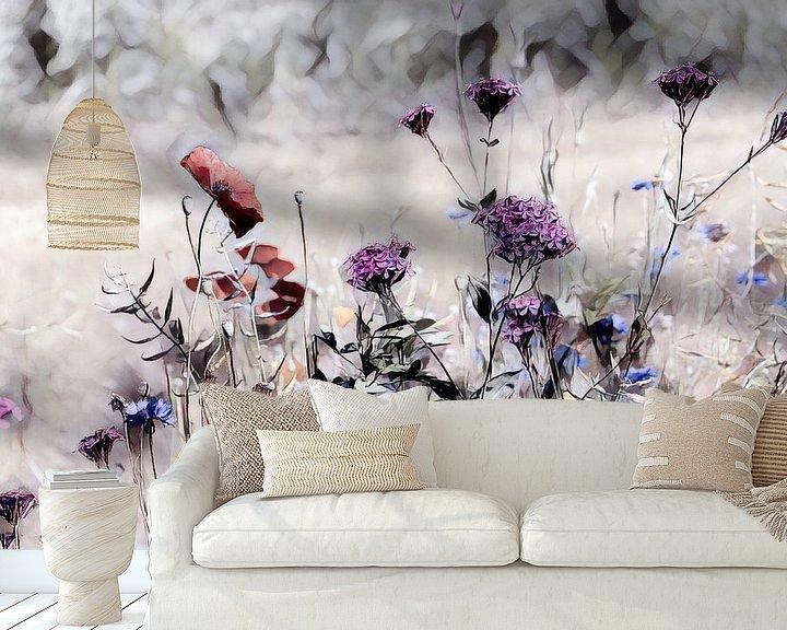 Beispiel fototapete: Wildblumenwiese Aquarellbild von Patricia Piotrak