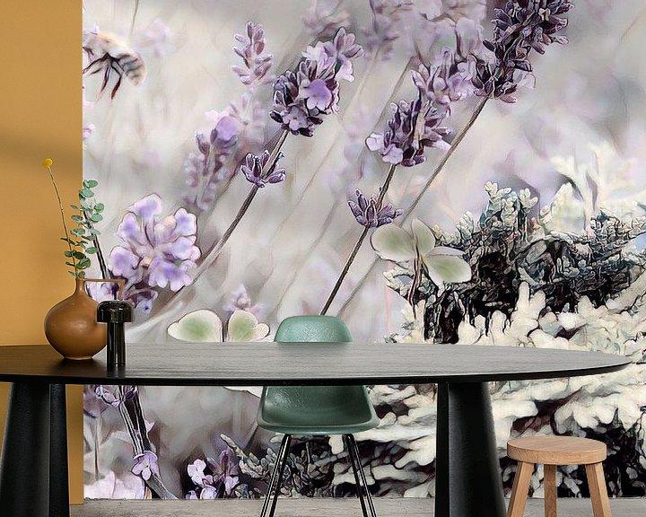Beispiel fototapete: Lavendel und Klee von Patricia Piotrak
