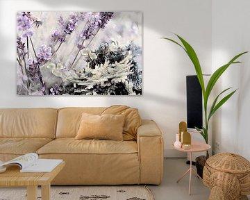 Lavendel und Klee