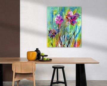 trendy bloemen van Claudia Gründler