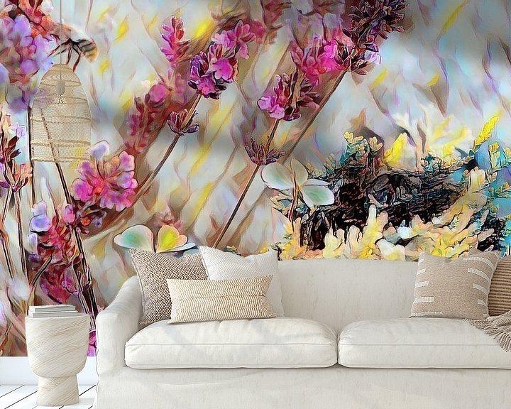 Beispiel fototapete: Lavendel Klee und Tanne von Patricia Piotrak