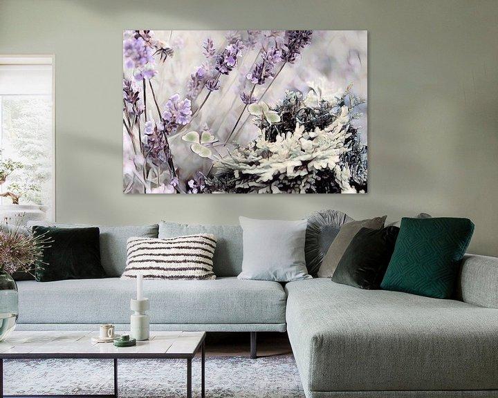 Beispiel: Lavendel Klee und Tanne Aquarell von Patricia Piotrak