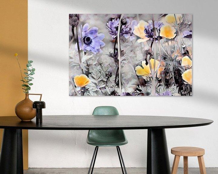 Beispiel: Gelber Kalifornischer Mohn und blaue Blumen von Patricia Piotrak