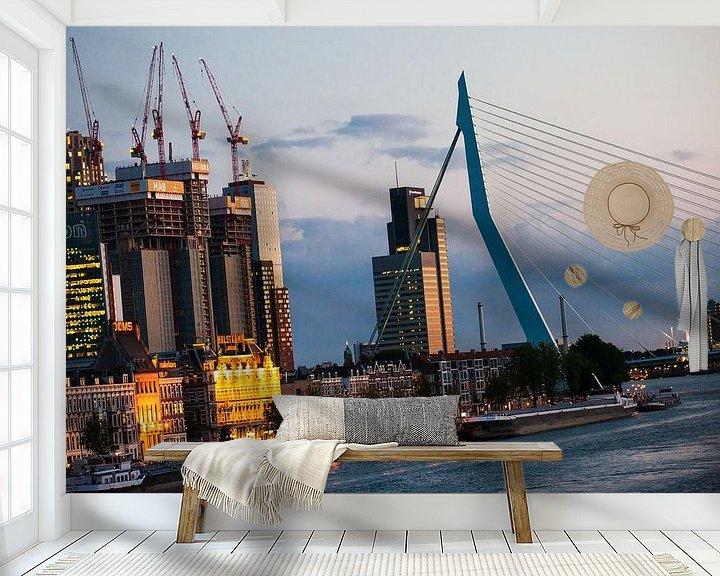 Sfeerimpressie behang: Building the Rotterdam van Pieter Wolthoorn
