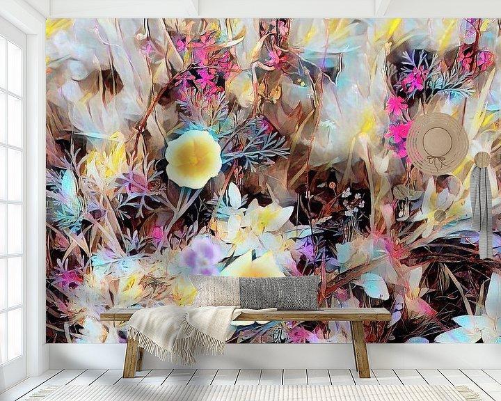 Beispiel fototapete: Blumenfeld Ölmalerei von Patricia Piotrak