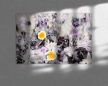 Blumenfeld Aquarellmalerei