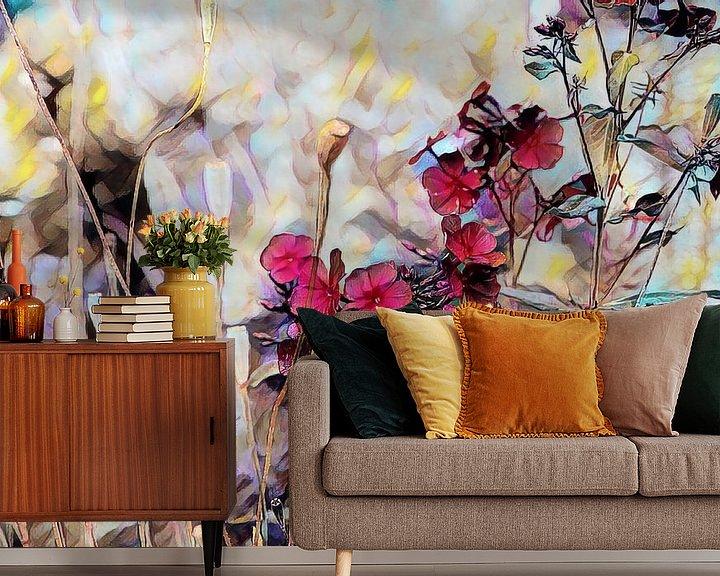 Beispiel fototapete: Blumenkomposition Ölmalerei von Patricia Piotrak