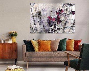 Blumenkomposition Aquarellmalerei