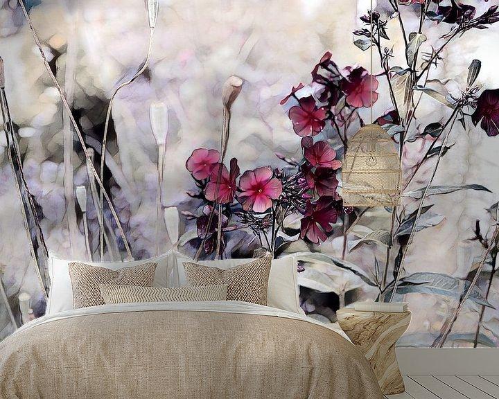 Beispiel fototapete: Blumenkomposition Aquarellmalerei von Patricia Piotrak