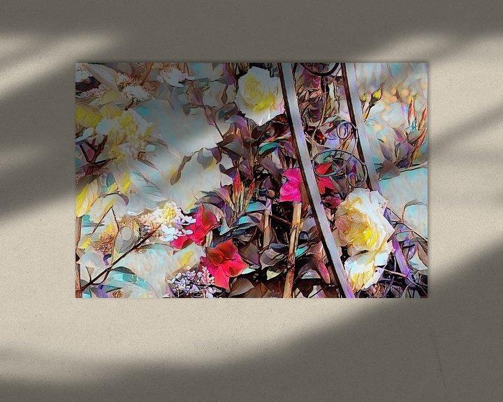 Beispiel: Rosenranke mit weißen Rosen Ölmalerei von Patricia Piotrak