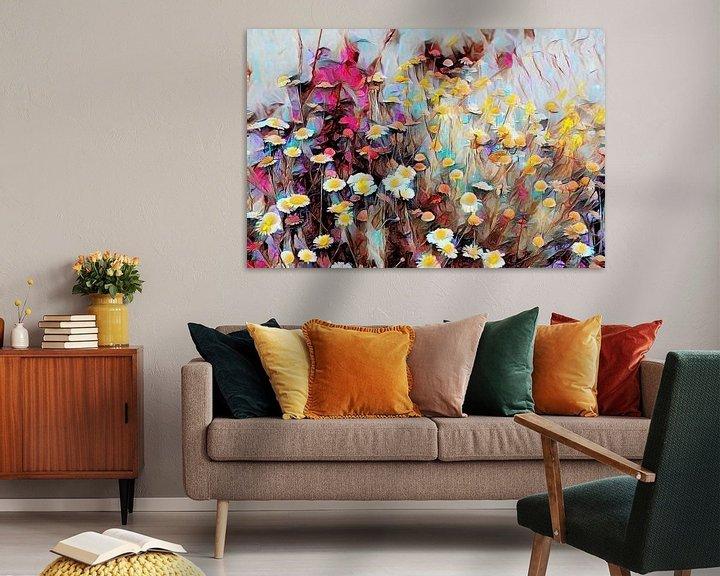 Beispiel: Wildblumen Ölmalerei von Patricia Piotrak